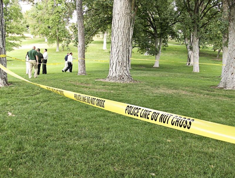 Police investigation site
