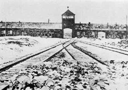 Main Gate at Birkenau (circa 1945)