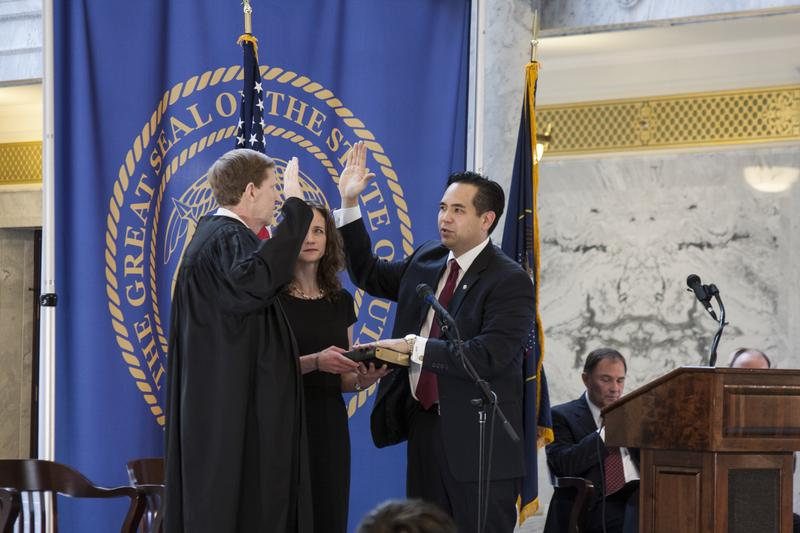 Sean Reyes was sworn in as Utah's attorney general on Monday.