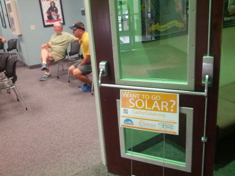 A workshop at the Logan City Library for the Cache Solar Discount Program