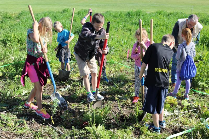 Students are trying to restore parts of the Blacksmith Fork river bank.