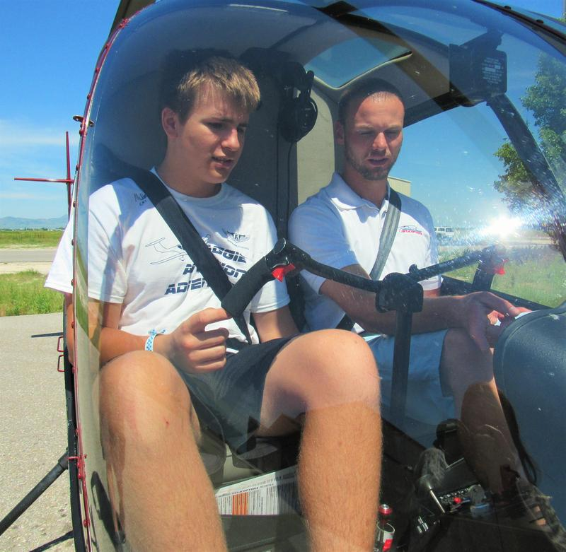 Instructor and student review the pre-flight check list.