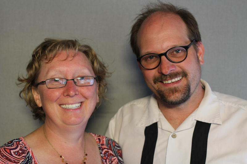 Benjamin Burger and LeaAnn Jones at the StoryCorps booth in Vernal