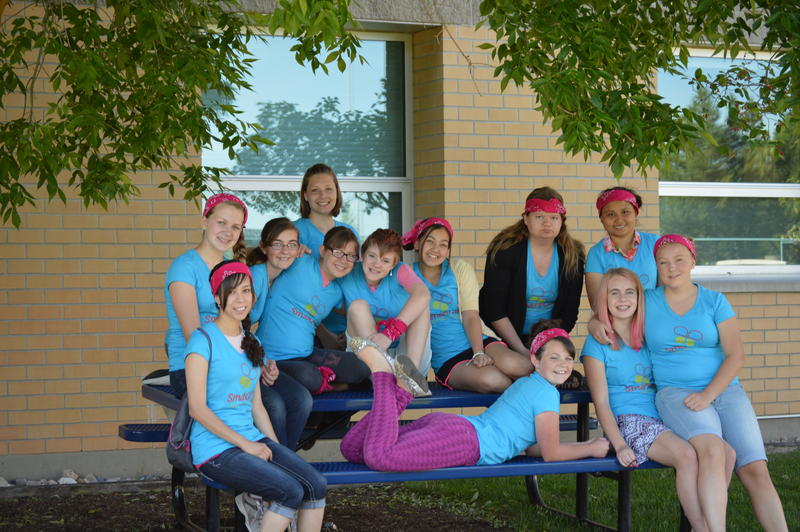 Girls between the ages of 11-15 spent a week creating crafts and playing circle games during USU's CWG Smart Girl Camp.