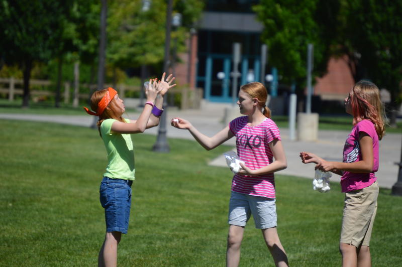 Water activites help to build trust and encourage physical activity during a Smart Girl Camp in Logan.