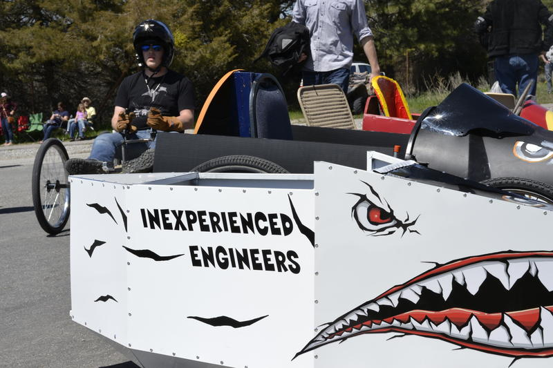 On Saturday, Utah State's American Society of Mechanical Engineers sponsored North Logan's first soapbox derby. Designed to build community interest in engineering concepts and creative problem solving, the event took place on a sunny afternoon on a resid