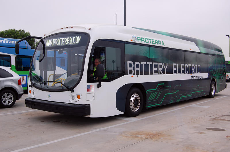 Example of an electric bus