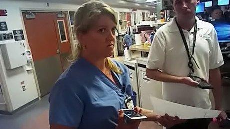 Picture captured from video of nurse Alex Wubbles