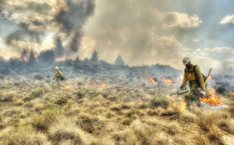Wildfires overtaking acres of rangeland and sagebrush country in the West
