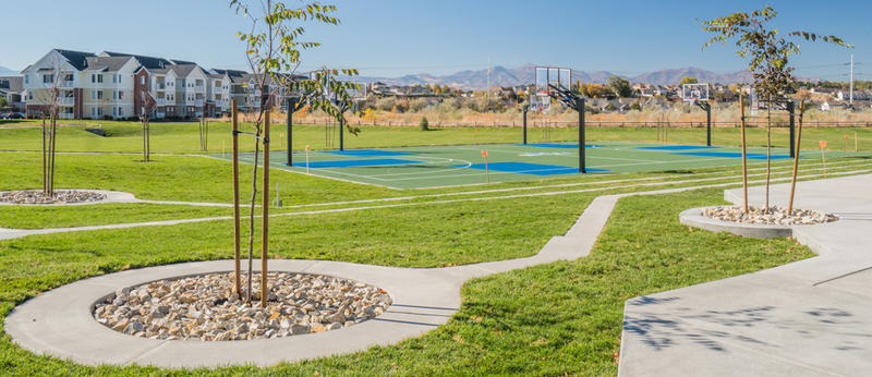 Bingham Junction's new park in Midvale, Utah.