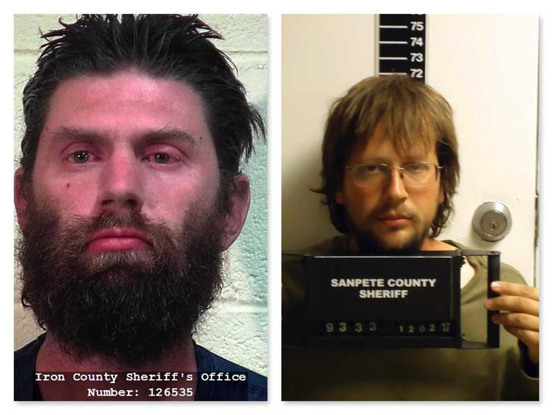 Samuel Shaffer (left) and John Coltharp have been arrested on various charges after a raid on their compound.