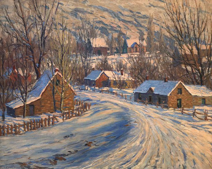 "LeConte Stewart's ""Late Afternoon in Winter"" is one of 11 paintings included in an auction of art work owned by the Logan School District."