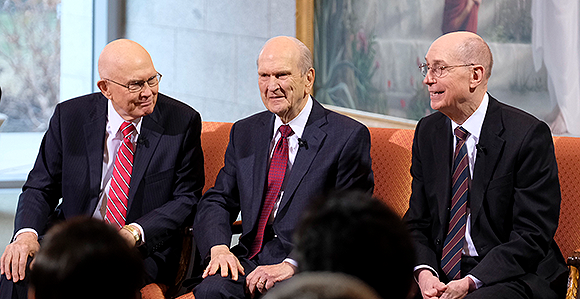 President Oaks, Nelson and Eyring