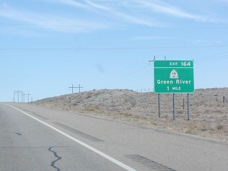 Interstate 70 west of Green River, Utah, where a bus crashed, injuring 12