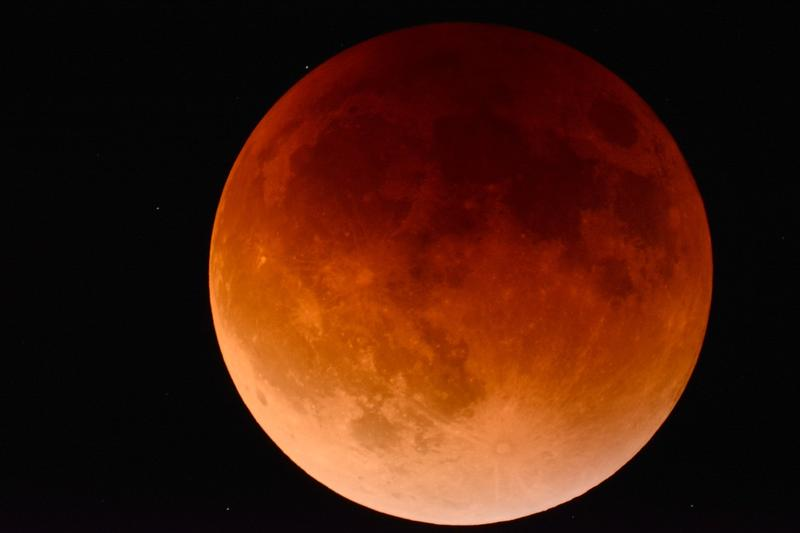 A red moon otherwise known as a blood moon