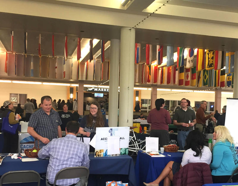 At USU's health fair, students can get a free, confidential mental health screening, courtesy of university Counseling and Psychological Services.