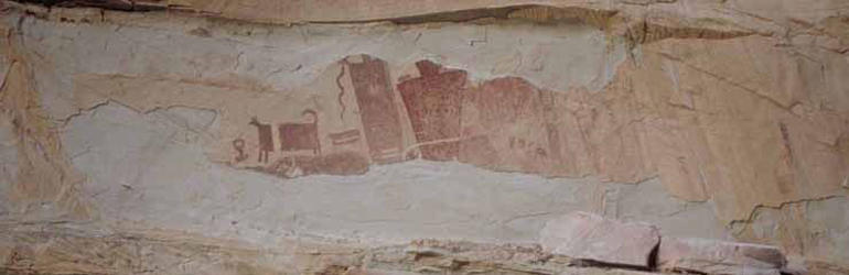 Anasazi rock art in Utah