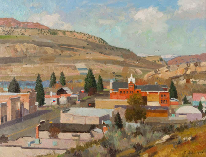 Painting of Coalville, Utah.