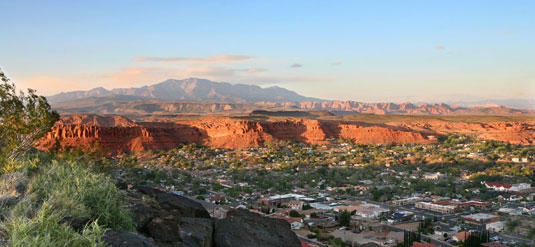 St. George, Utah.  Population grew 4% last year.