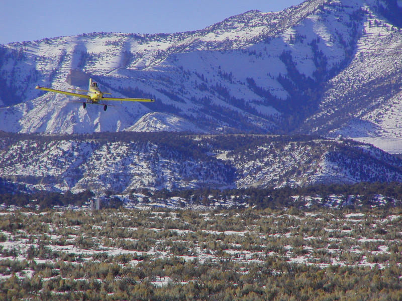 This aerial seeding is being performed at Porphyry Bench.