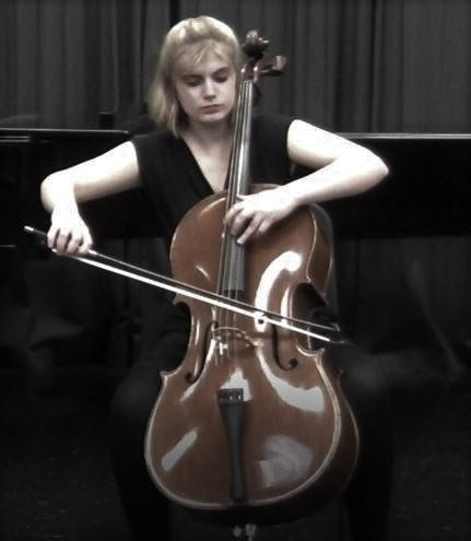 Emma Cardon plays the cello