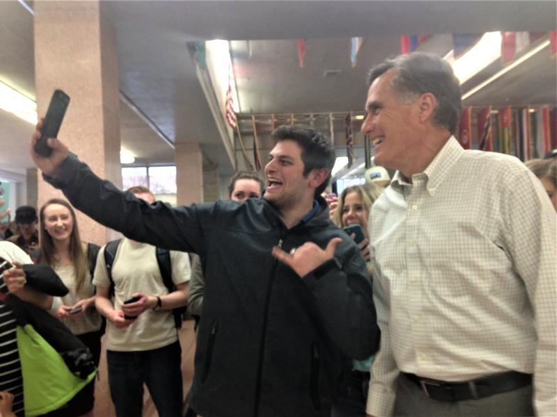 Mitt Romney meets with USU students