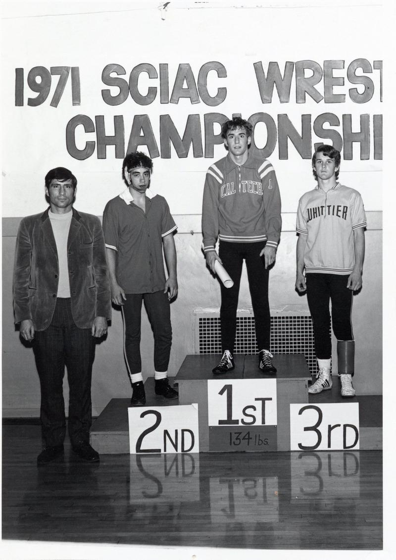 Lewis is the only Caltech Beaver to win titles at different weight classes 126 and 137 lbs.