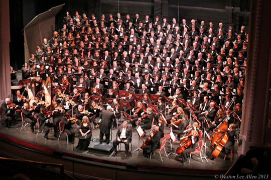 The American Festival Chorus and Orchestra Performing Live