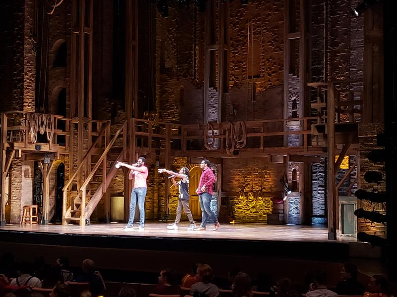 Three of the Hamilton cast hosted the high school performances.