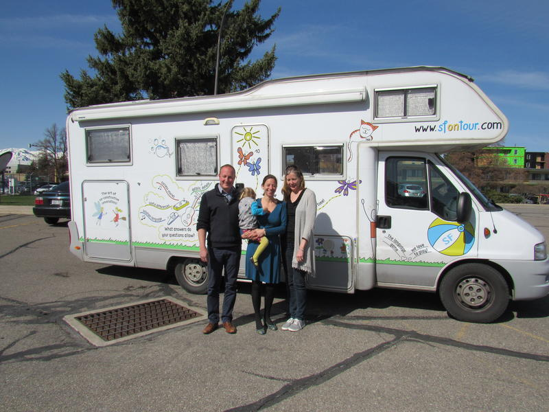 Family in front of Solution Focus RV.