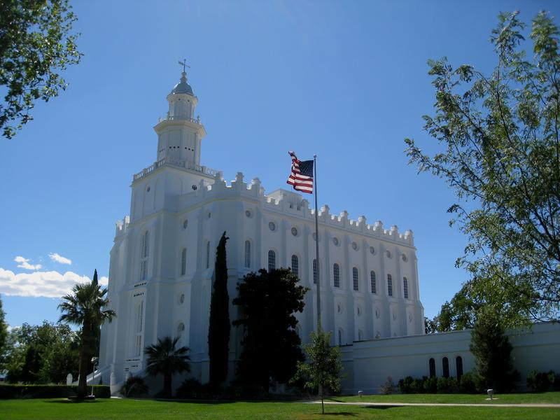 St. George Temple damaged by intruder.