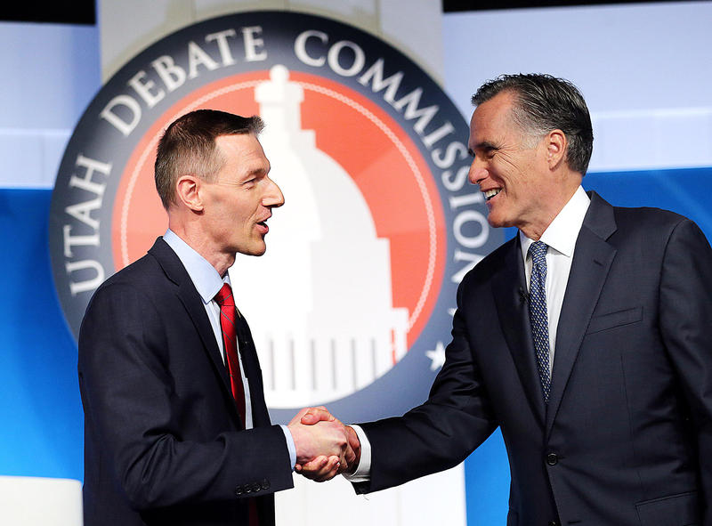 Republicans Mitt Romney and Mike Kennedy participated in the Utah Debate Commission sponsored questioning Tuesday.