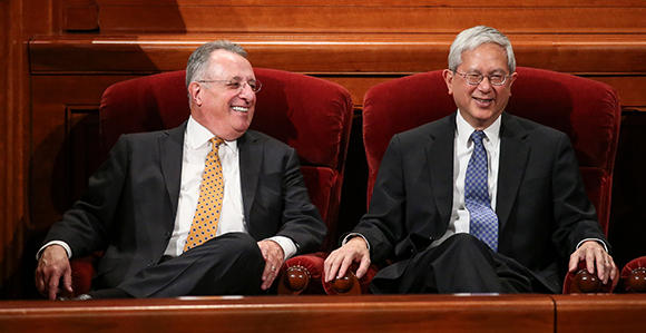 Elder Ulisses Soares and Elder Gerrit W. Gong