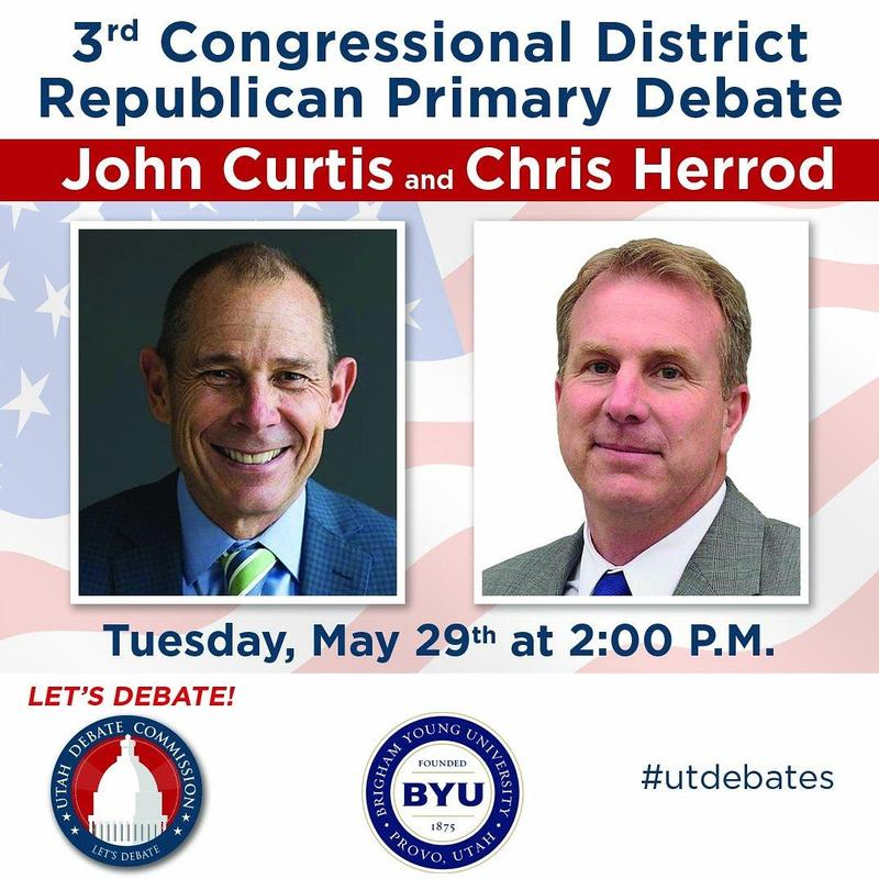 John Curtis and Chris Herrod square off in the Utah Republican Primary Tuesday.