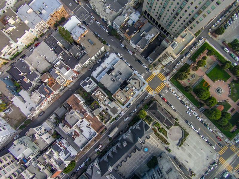 Grid pattern city scape