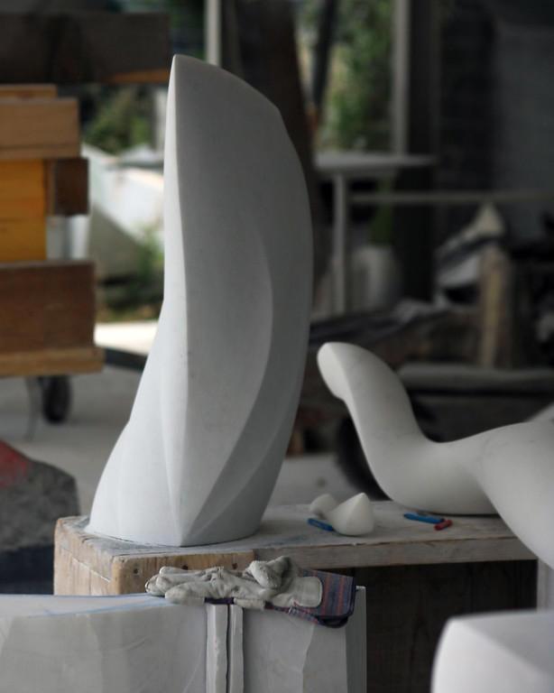 One of Suzuki's sculptures