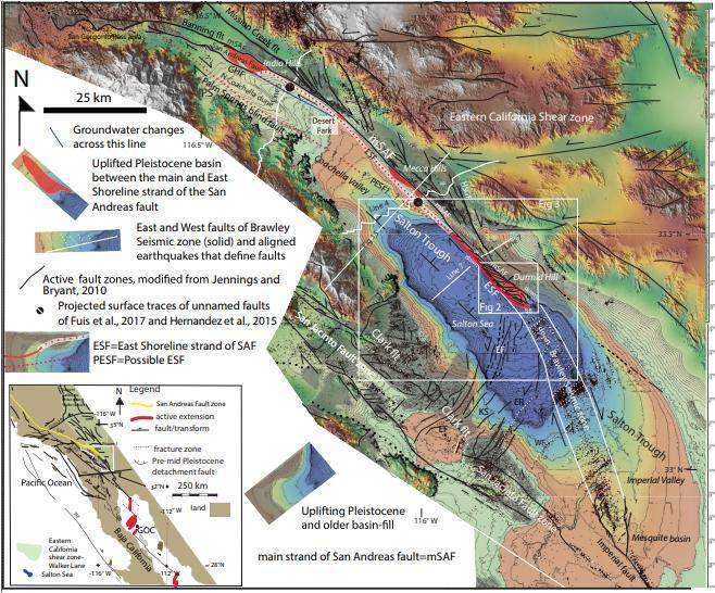 Study area of southern San Andreas fault