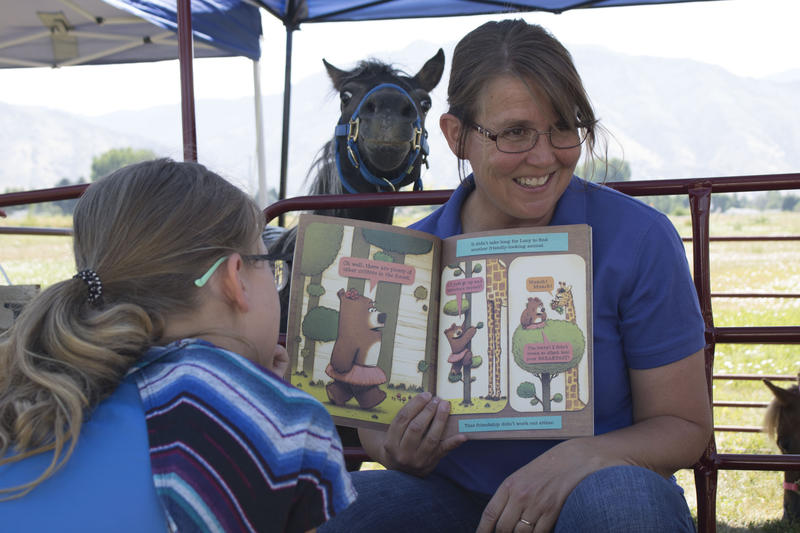 The Reading Corral is designed to improve literacy skills, life lessons and how to treat and care for horses.