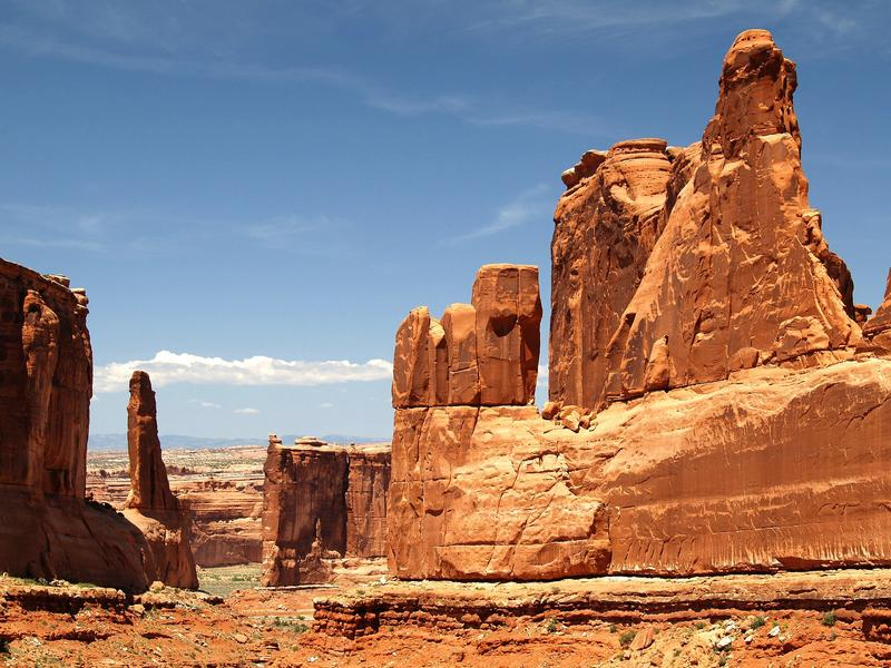 Arches National Park: 63.1% of Utah's land is federally owned.