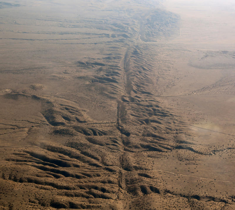 Fault lines visible from sky