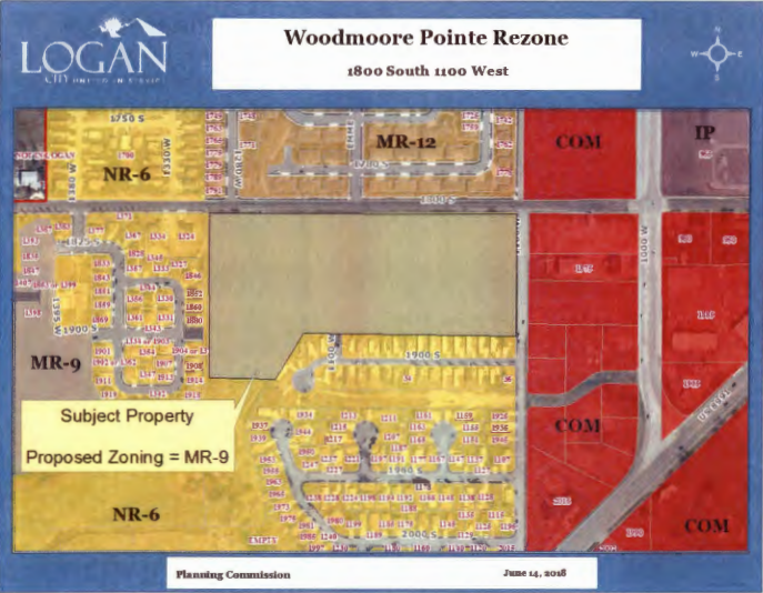 Woodmoore Point Re-Zone; An image of the area for the proposed re-zone in Logan city.