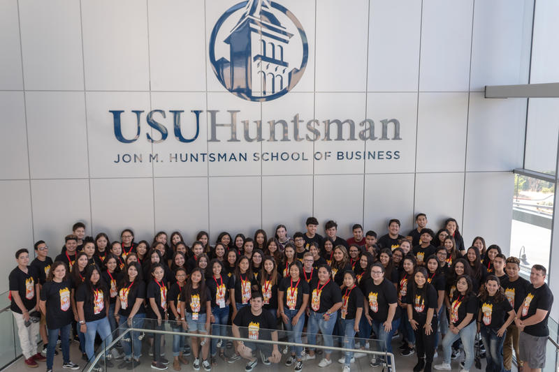 Students of Utah State University Latinos-In-Action Boot Camp