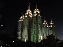 The Salt Lake City LDS temple.