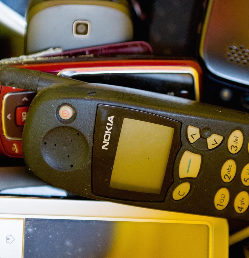Old phone collection precious metals landfill
