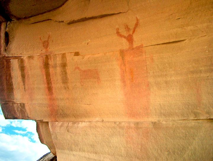 Barrier Canyon-style rock art in Range Creek, Utah
