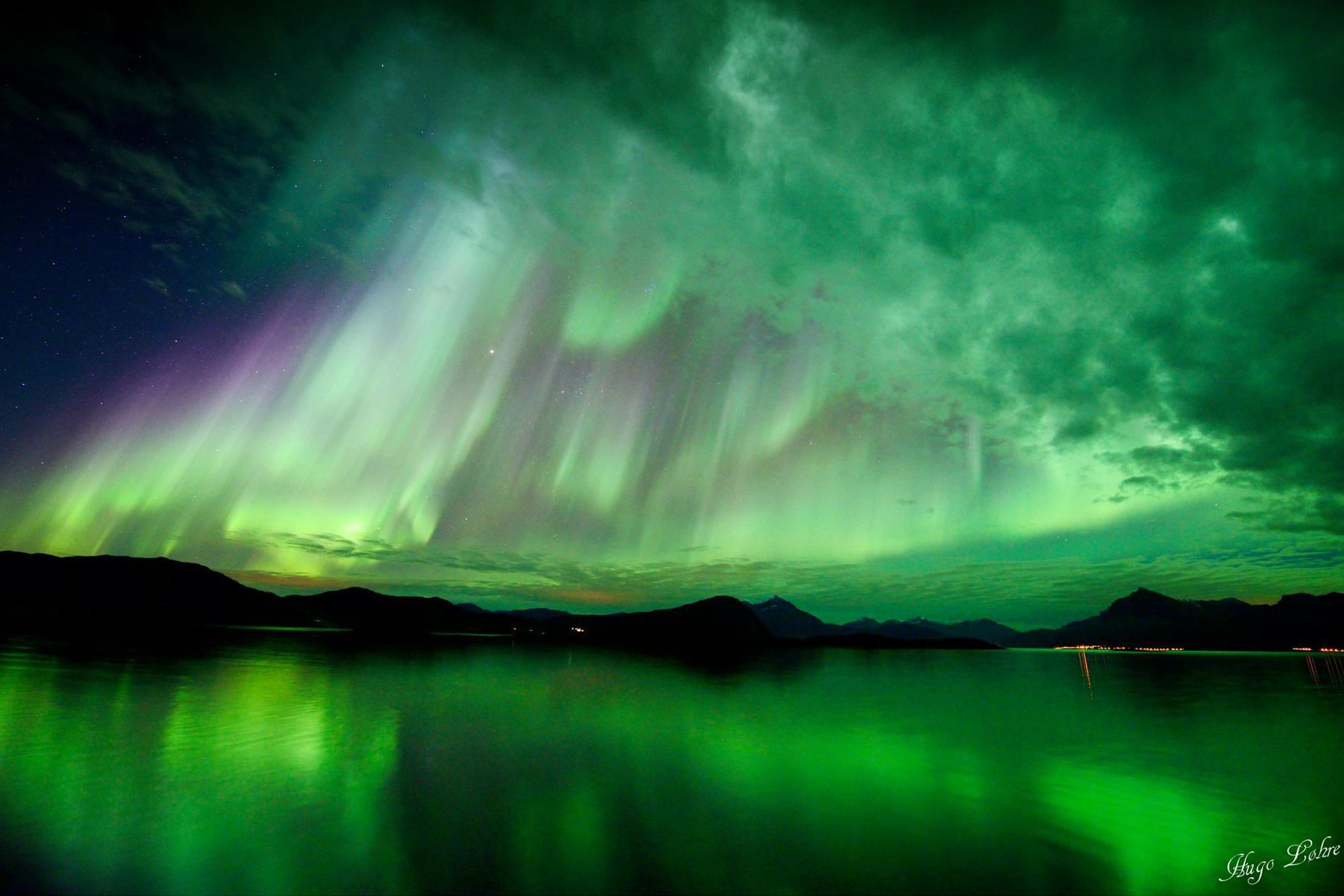 The Northern Lights may be seen as far south as centeral Utah.
