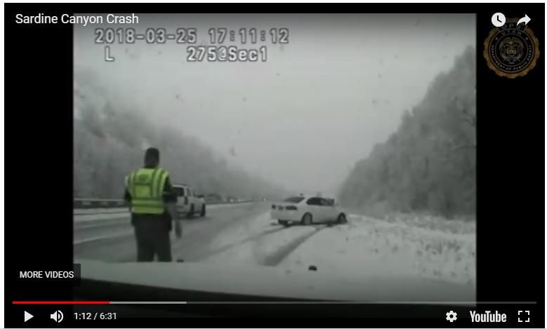 Dashcam video shows trooper being hit by vehicle
