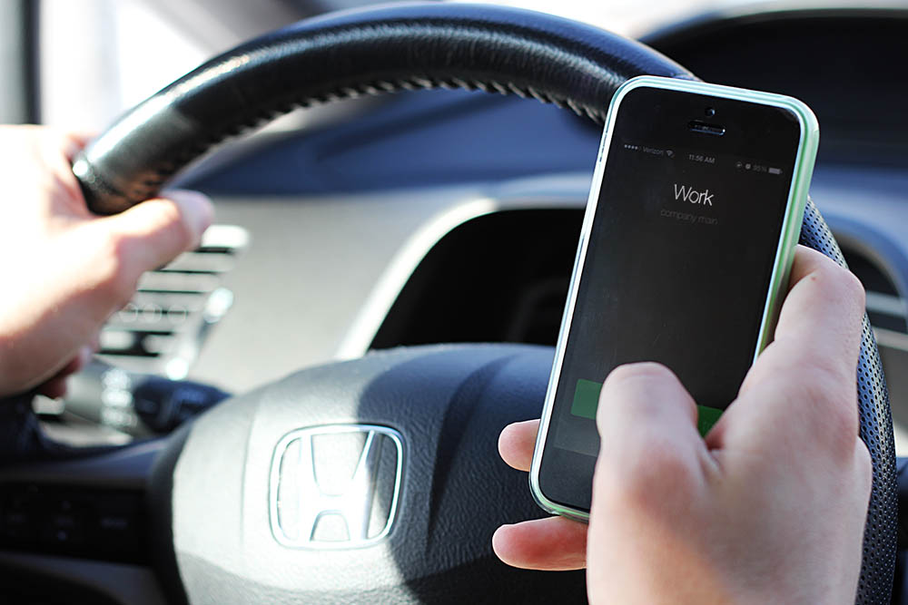 Cell phone while driving are not