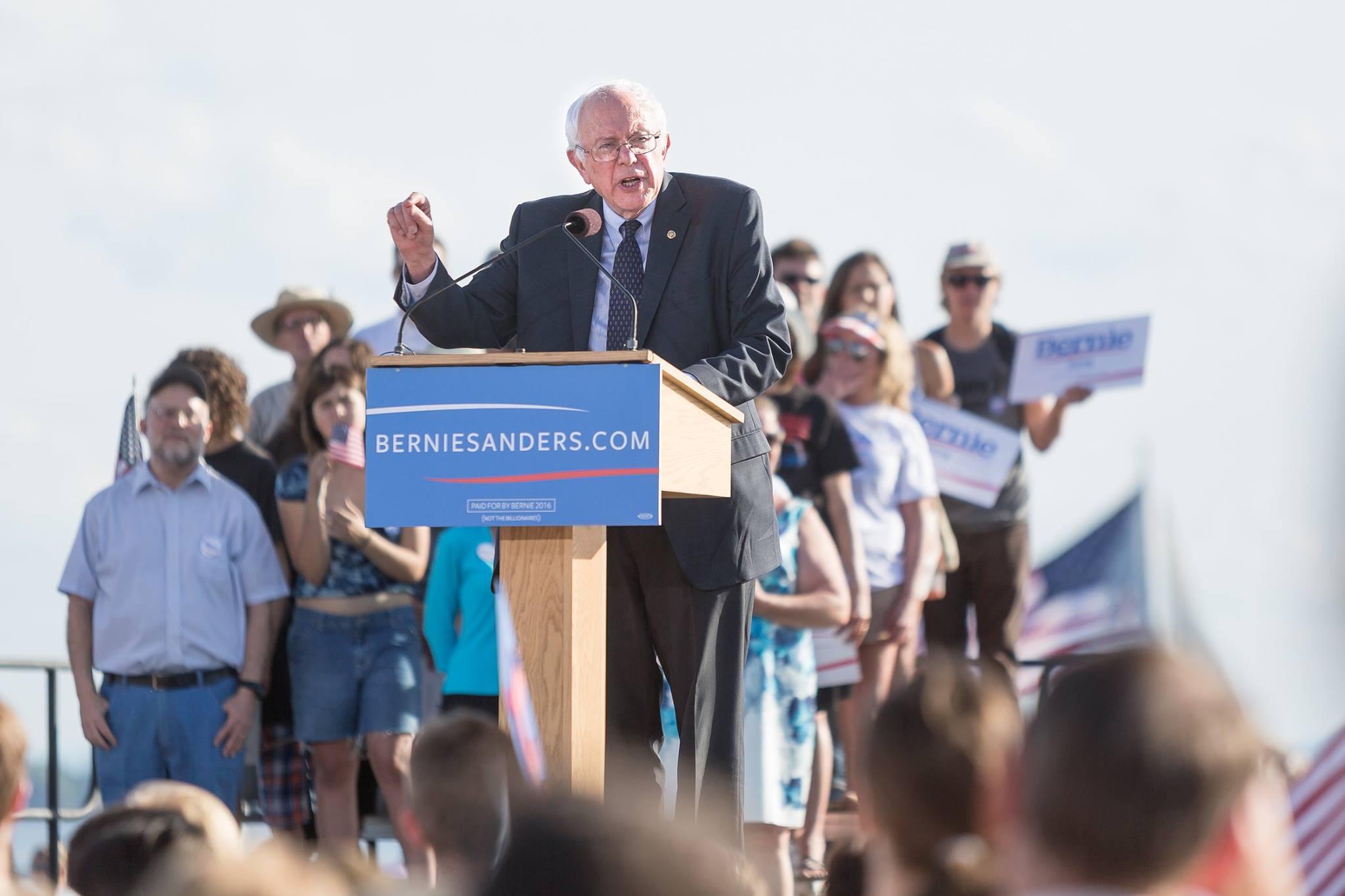 Talking Sanders' Run At The Rutland Farmers Market