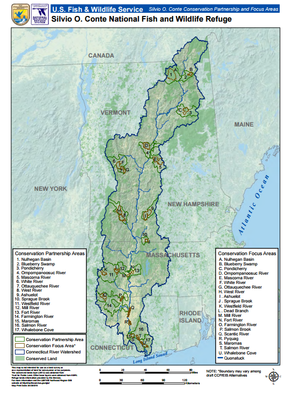 US Fish And Wildlife Looks To Expand Conte Wildlife Refuge In - Map of us and wildlife preserves